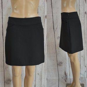 LOFT Black Pencil Mini Skirt